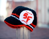 San Francisco Giants Inspired Crocheted Baseball Cap (Adult Size) (Made to Order)