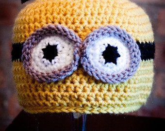 Despicable Me Inspired Minion Hat - Child Size  (Made to Order)
