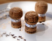 Reserved for Jessica - Place Card Holders for Wedding or Bridal Shower made from recycled champagne corks