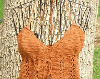 Halter Top, Beach top, Copper Hot and Sexy
