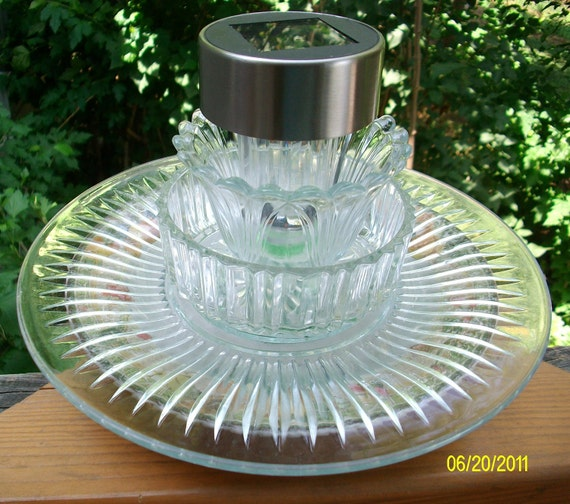 Recycled Glass Summer Garden Solar Light