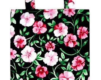 Fabric Tote Bag fits Magazines, Books and more, Lined