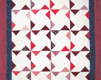 Pinwheel X Quilt Pattern by  Curlicue Creations