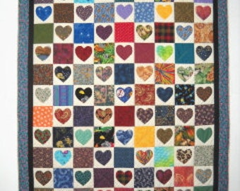 Heart Match Quilt Pattern by Curlicue Creations