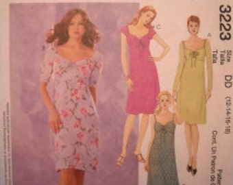 McCall's 3223 Empire Style Dress Pattern