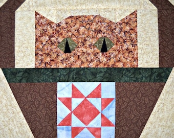 Star Cat Quilt Block Pattern