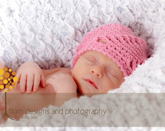 Crochet Pattern for Pinwheel Beanie Hat - 6 sizes, baby to adult - Welcome to sell finished items