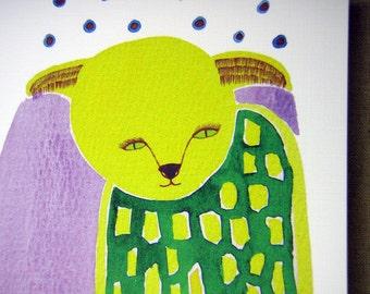 Everyday Greeting Card : Cat MongMong