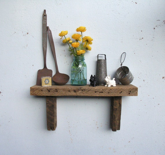Rustic Wood Shelf - lumber from an 1860/70's Gold Mine Camp in the Eastern Sierra Nevada Mountains