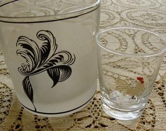 Vintage 1950s Barware Glasses Mid Century Modern Mad Men Style