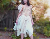 Fairy Tattered  Wedding Dress  Designed and HandMade by KheGreen/ Custom Order