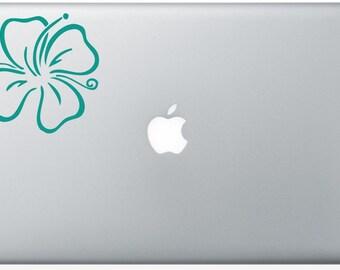 Hibiscus Flower laptop DECAL- macbook iPad computer- vinyl sticker -Hawaii island
