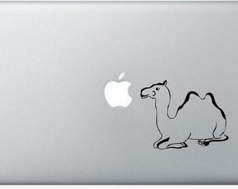 Camel laptop DECAL- macbook iPad computer- vinyl sticker - Desert animal