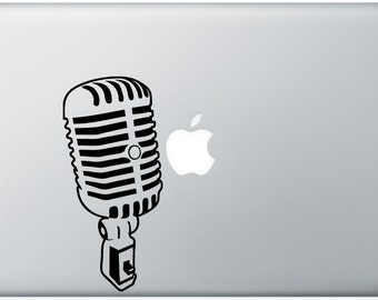 sweet Jazz Microphone music mic DECAL- macbook PC computer