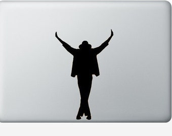 Michael Jackson laptop DECAL- king of pop - macbook iPad computer- vinyl sticker