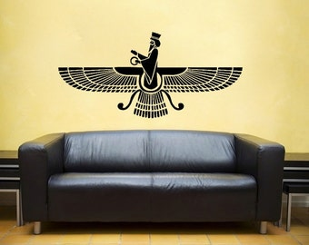 Farvahar  Decal- Zoroastrian Persepolis, Persian -wall Art, sticker art, room, home and business decor