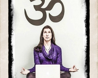 OM vinyl Wall DECAL- live well, yoga, peaceful ohm - interior design, sticker art, room, home and business decor