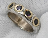 Amethyst ring. sterling silver ring, gold purple Amethyst ring (gsr-7112). romantic gift for her, anniversary gift ideas, amethyst jewelry