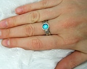 Opal ring. Sterling silver ring. Solitaire opal ring. Silver opal ring. (sr-9917). opal jewelry, birthday gift for mom sister wife.