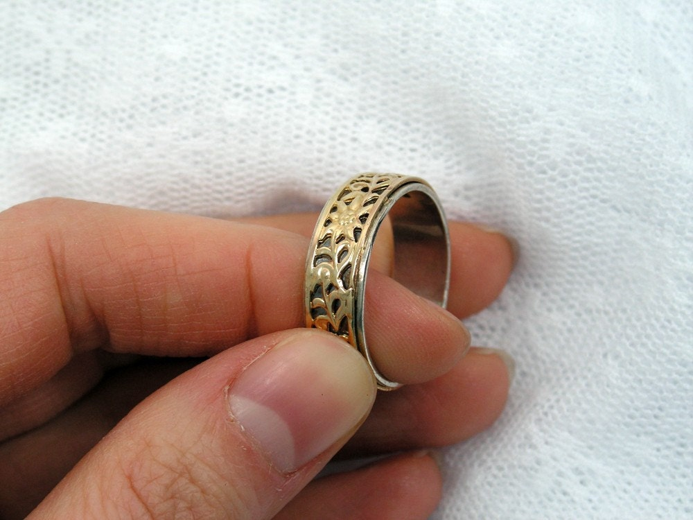 Silver gold ring floral ring birthday t ideas floral gold