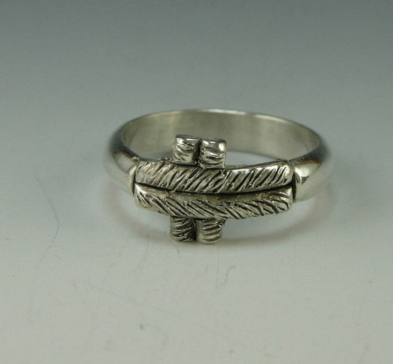 Unique Sterling Silver Cross Ring- Handmade One of a Kind