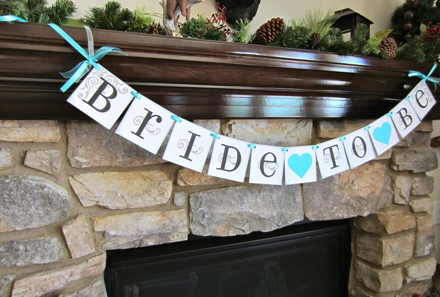 BRIDE to BE banner bachelorette party sign by CowCountryCreations