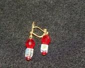 Valentine's Day Earrings Red Swarovski Crystal Earrings valentine's day jewelry valentines gift red earrings crystal earrings valentine gift