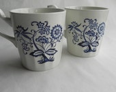 Two Blue and White Mugs, Blue Nordic