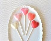 10 Mini Heart Chocolate Lollipops - Love Ombre