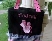 Personalized Dance Tote Bag with ballet applique