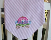 Personalized  Baby Receiving/Swaddle Blanket, Fantasy, Fairytale
