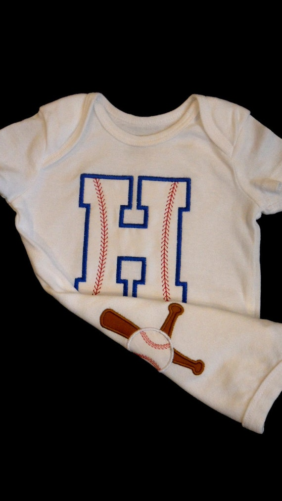 monogram baby boy clothes baseball outfit monogrammed and