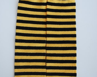 leg candy: MIZZOU TIGER Black and Yellow Gold Striped - Hand Dyed Leg Warmers