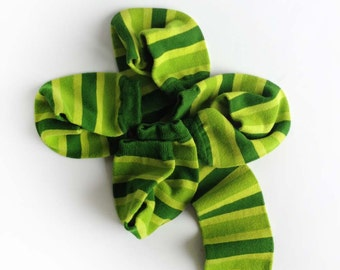 St Patrick's Day Baby Legwarmers - Kelly Green and Lime Green, Hand Dyed for babies and kids