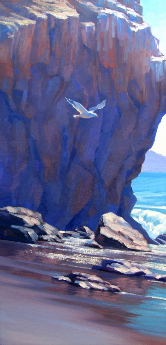 Original California Seascape Painting by Elena Roché