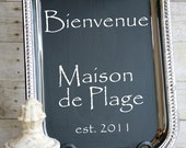 French, Wedding,Old World or Tuscan New LARGE size Chalkboard and Magneticboard comes with a free piece of chalk.