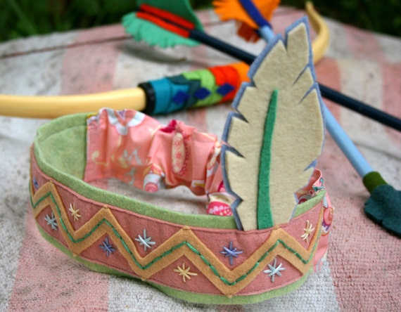 OOAK- Little Indian Head Dress- Day Lillies