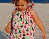 Christmas Pillowcase Dress - Christmas Tree