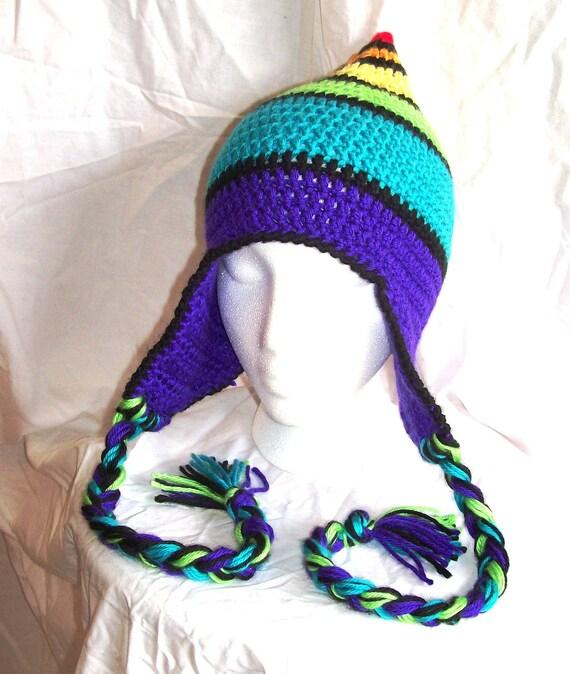 Bold Rainbow Stripe Pixie Hat - Custom - Made to Order