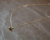 hand cut faceted pyrite gemstone bead drop necklace,
