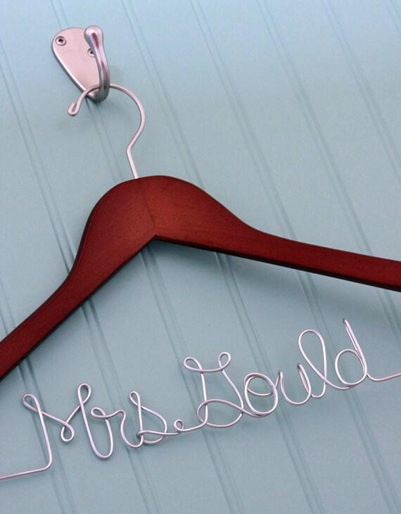 Custom Name Wedding Gown Hanger - GREAT SHOWER GIFT