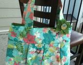 The Bella purse-- Bright floral with clip
