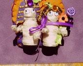 Mummies Tie the Knot Halloween Ornament