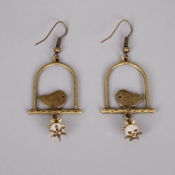 Little Bird Earrings - Handmade Jewelry