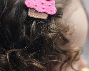 Boutique Cupcake Hair Clip - Meet Delish (Treasury Item)