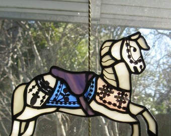 Stained Glass Carousel Figure Illions Jumper 039