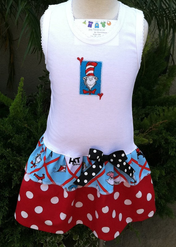 Diamond Dr Seuss  Party Dress Available 0-3 months through Size 6/8
