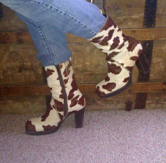 Western Cowhide Boots