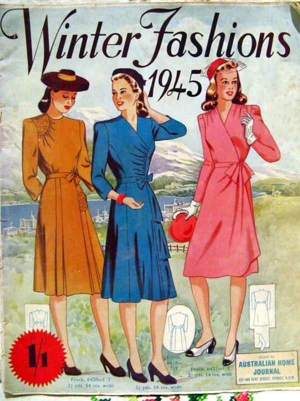 1940s Sewing Pattern Catalogue Australian Home Journal 1945