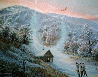 Native American Art, Nature Art, Wildlife Art, home decor indian art, eagles art, inspirational art print, Eli Thomas Art, gift ideas art